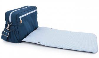 Wickeltasche blau karo
