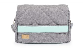 Wickeltasche online Kaufen mint grau Messengerbag Babytasche