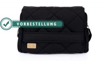 Schwarze Wickeltasche