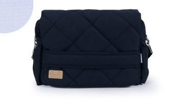 Wickeltasche Navyblau, Nadelstreifen, Tasche für Jungen und Mädchen