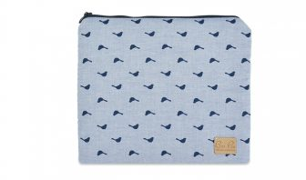 Windeltasche marineblau, Vögel