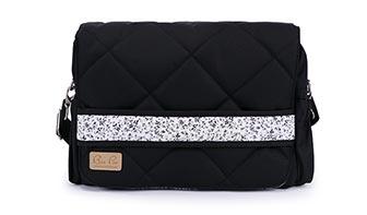 Wickeltaschen mit Blumenmuster online kaufen schwarz-weiss
