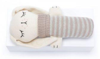 Kuschelhase gestrickt organic cotton beige