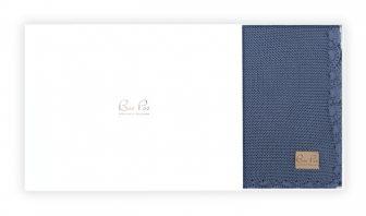 Geschenk zur Geburt Babystrckdecken Marine - GOTS Baumwolle