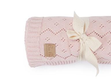 Rosa Sommerdecke für Babys Pointelle Strick