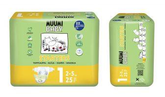 Bio Babywindeln Muumi 2-5kg 25Stk