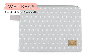 Wet bag clutch grau