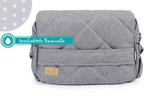 Graue Wickeltasche mit beschichtete Baumwolle