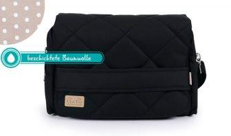 Schwarze Wickeltasche mit beschichtete Baumwolle