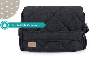 Dunkelgraue Wickeltsche Graue Wickeltasche mit beschichtete Baumwolle